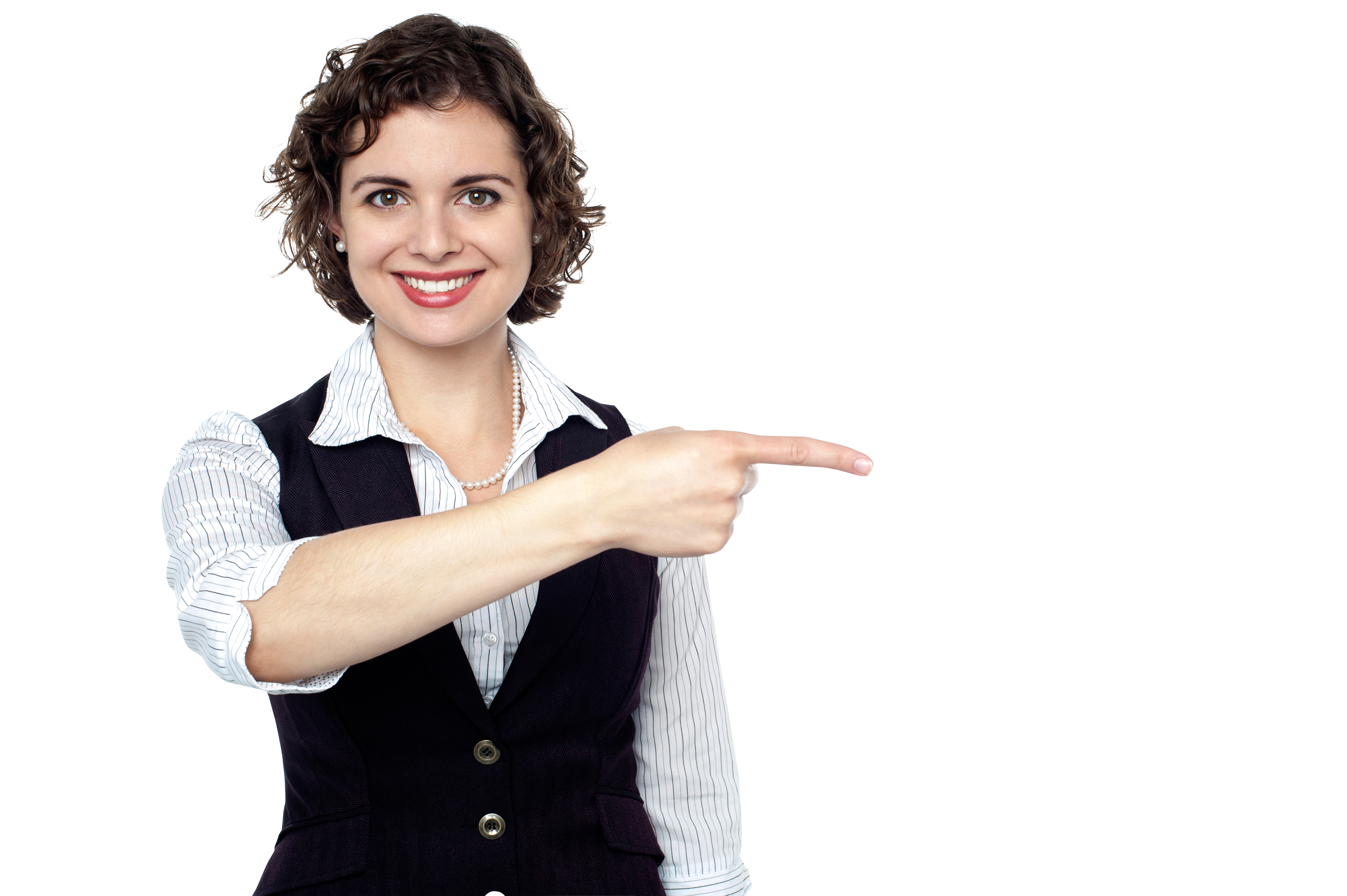 Download Women Pointing Right PNG Image for Free.