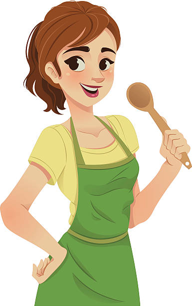 Woman In Apron Clipart.
