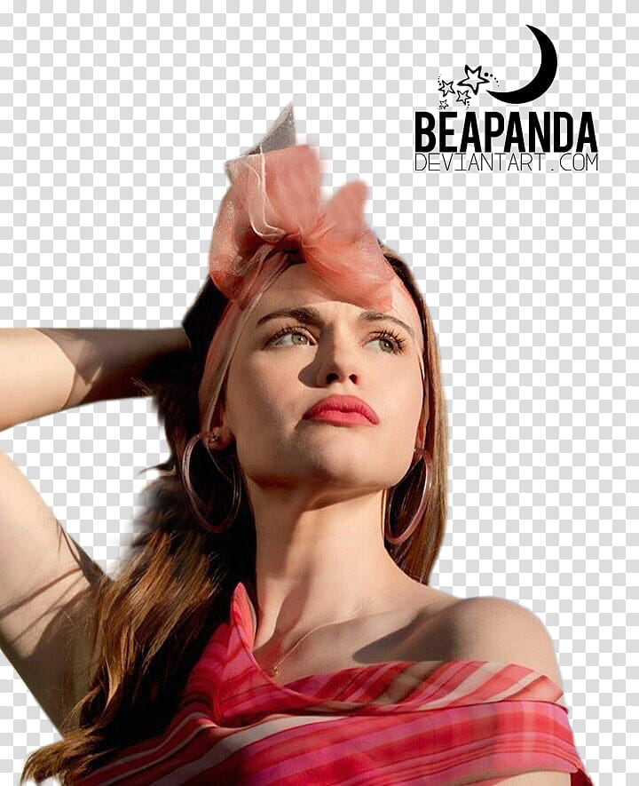 Holland Roden, woman with a bandana transparent background.