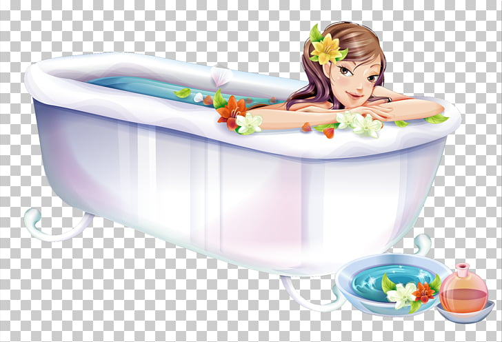 Bathtub Drawing, Girls bathing, woman in bathtub.