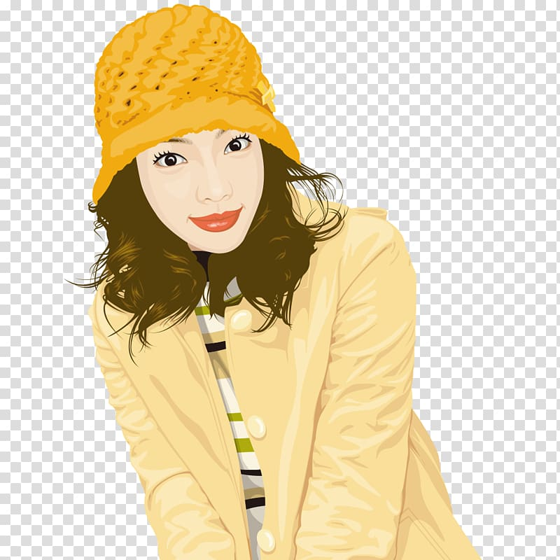 Woman Free content , Knitted hat beauty transparent.
