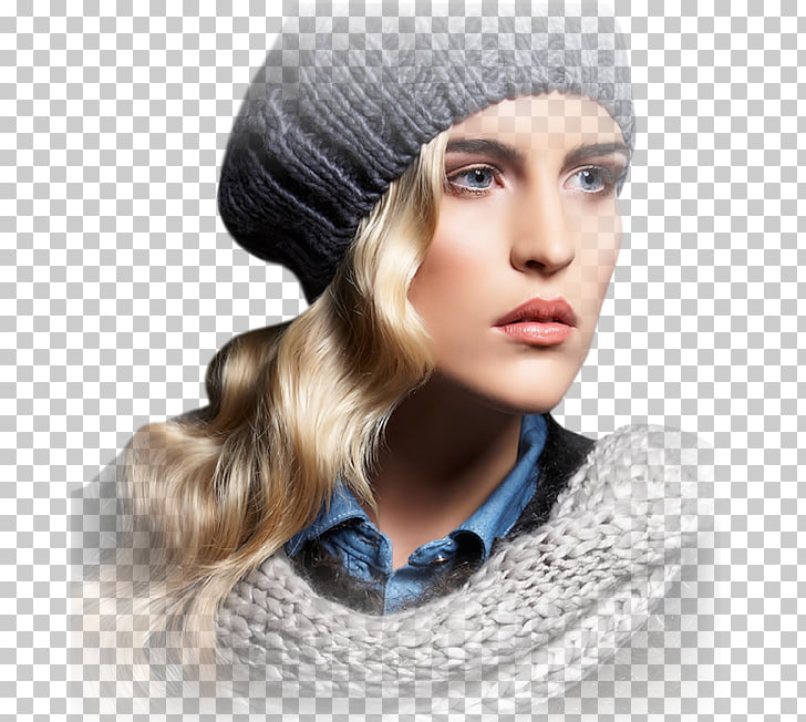 Woman Female ping Beanie, Three.