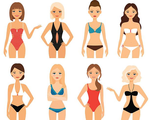 Best Bikini Illustrations, Royalty.