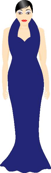 Woman In A Blue Dress Clip Art at Clker.com.