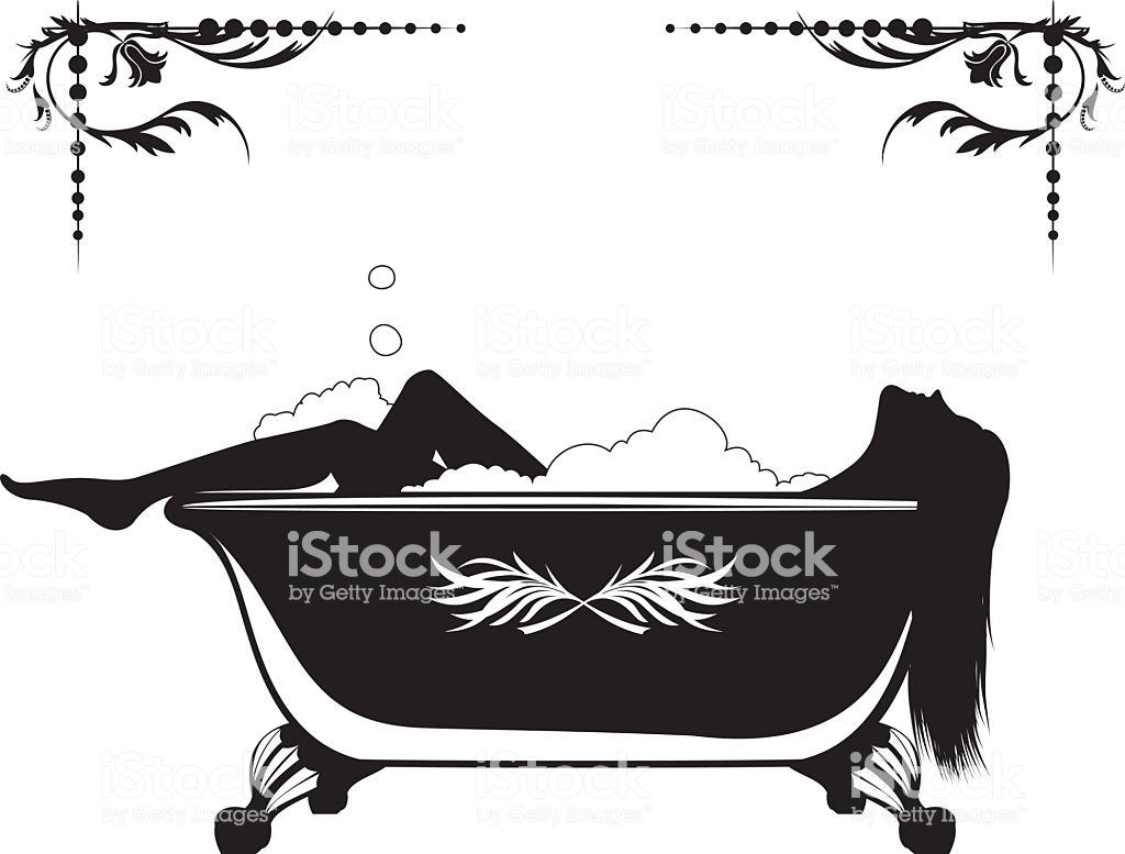 Lady In Bathtub Silhouette.