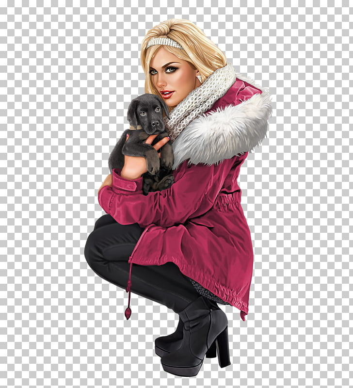 Woman Бойжеткен , fur coat PNG clipart.