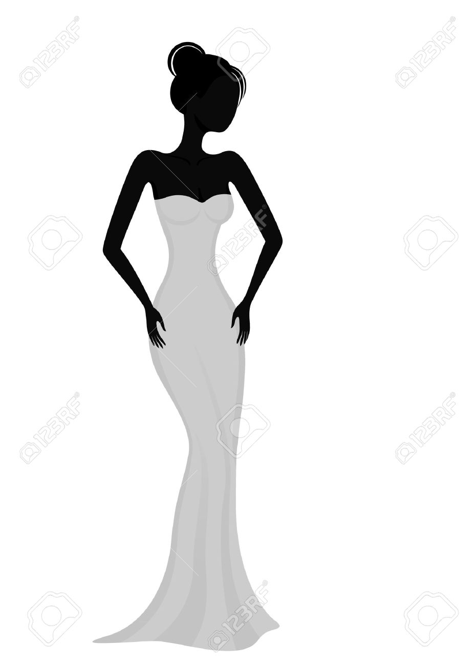 5,487 Evening Dress Cliparts, Stock Vector And Royalty Free.