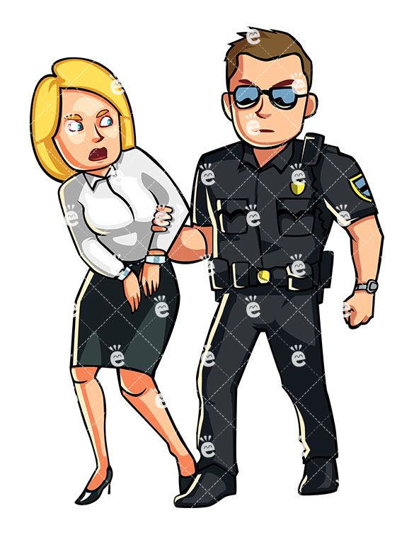 Police Officer Arresting A Formally Dressed Woman in 2019.