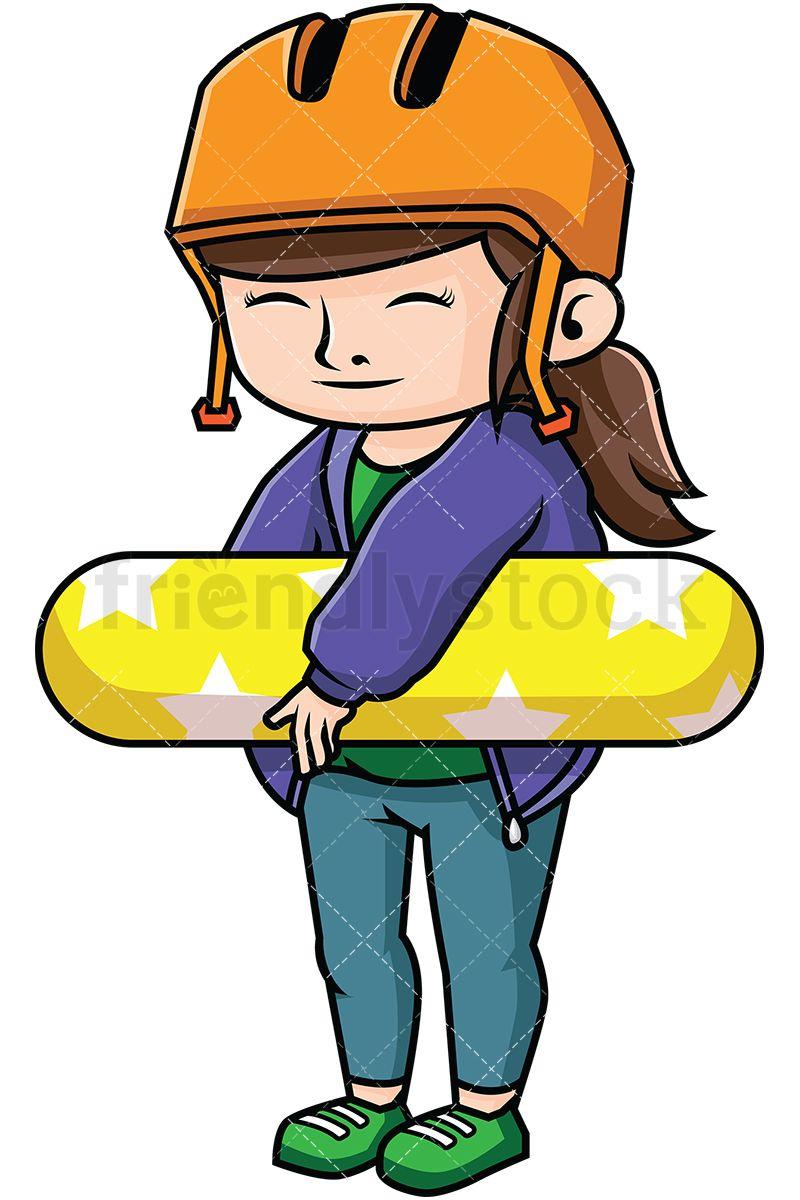 Woman Skateboarder.