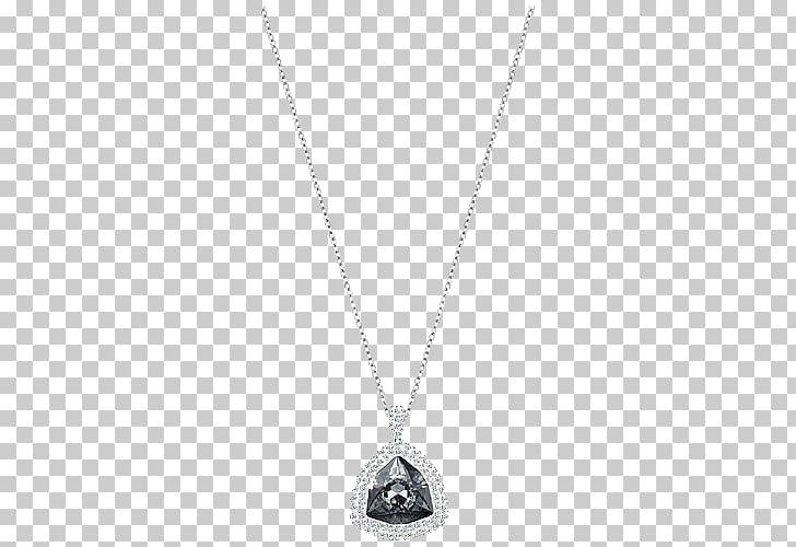 Locket Necklace Chain Silver Jewellery, Swarovski jewelry.