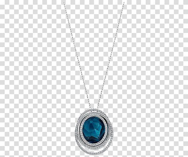 Locket Necklace Body piercing jewellery Turquoise, Swarovski.