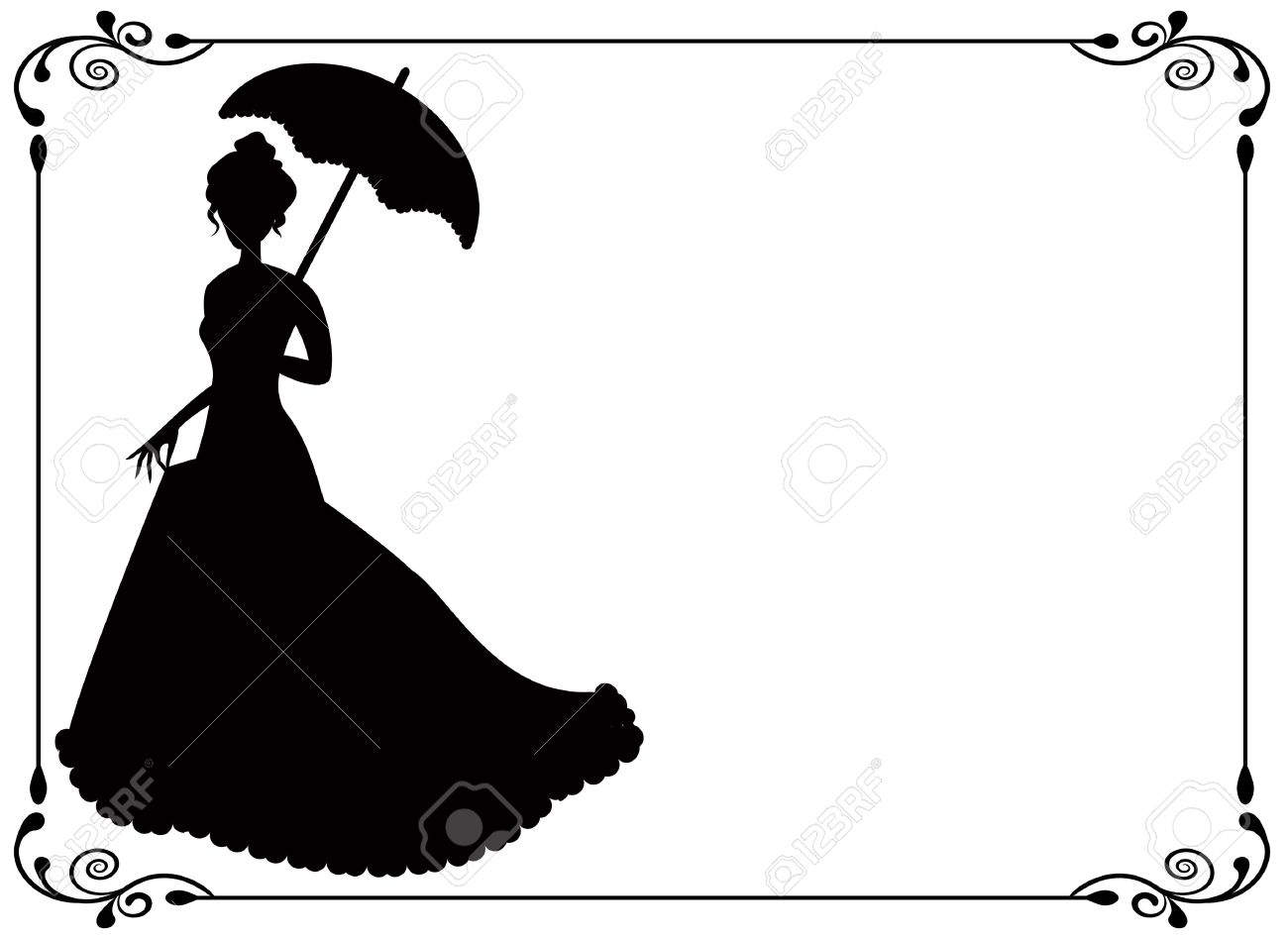Umbrella Silhouette Woman