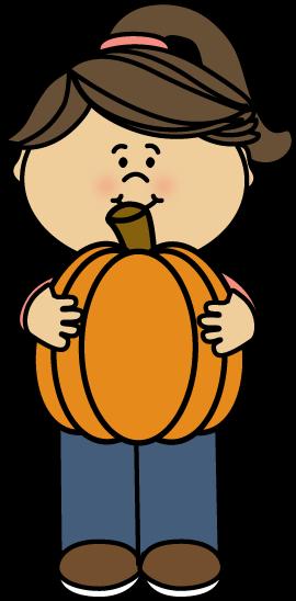 Girl pumpkin clipart.