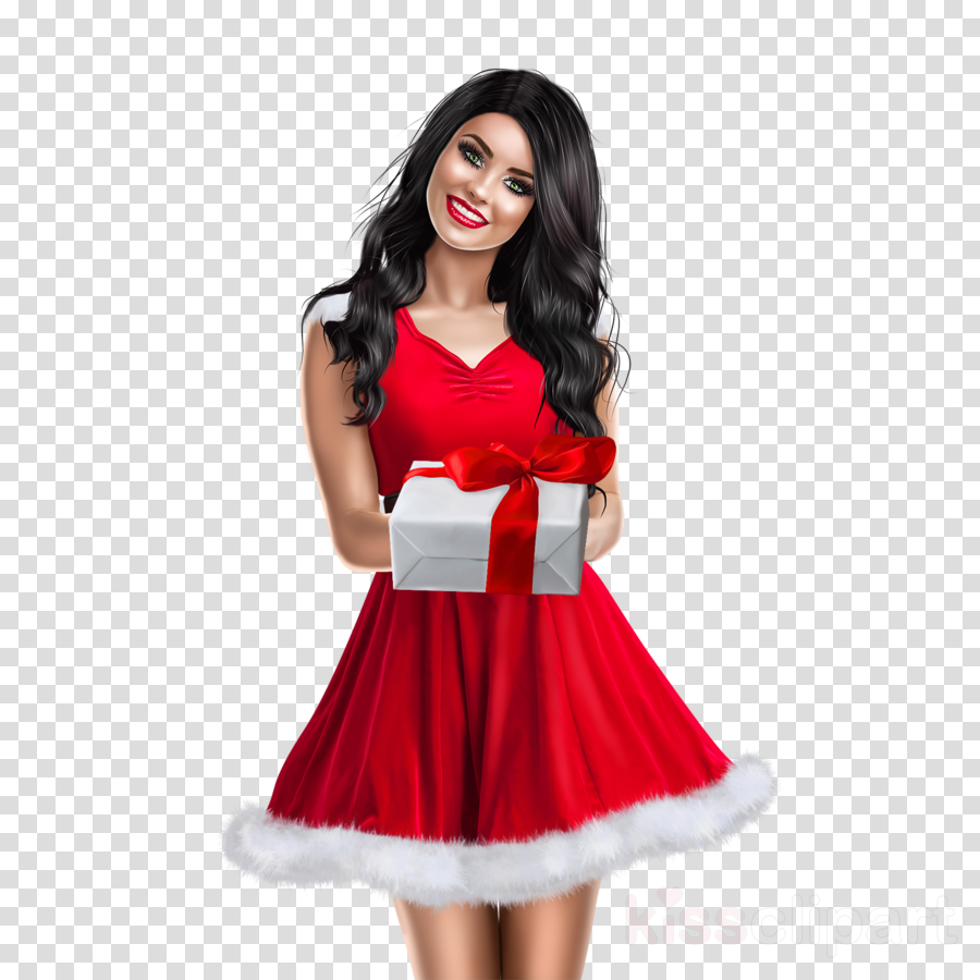 clothing white red fashion model dress clipart.