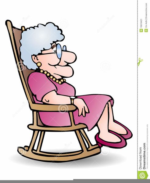 Clipart Grandmother Rocking Chair.