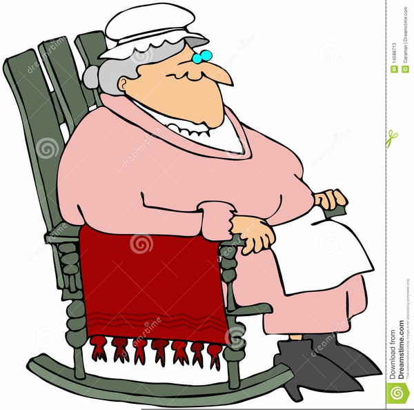 Grandma Rocking Chair Clipart.