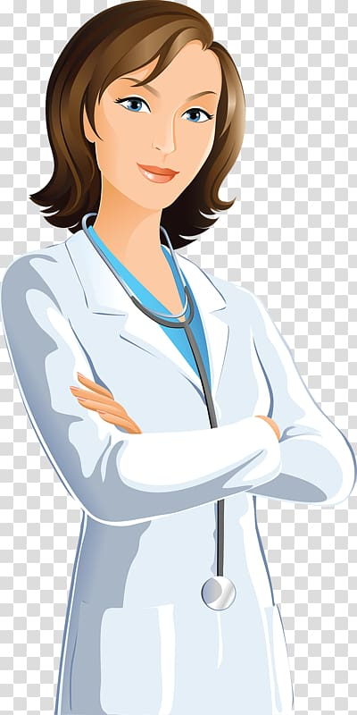 Woman wearing white cloth , Physician Family medicine Scrubs.