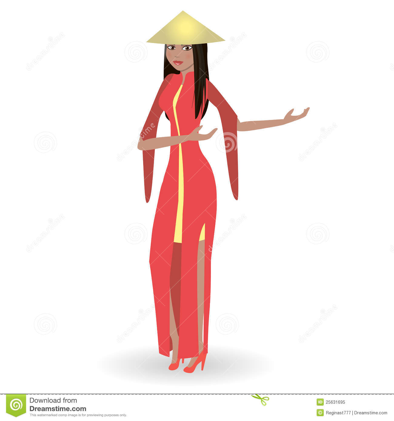 Vietnamese Girl Clipart.
