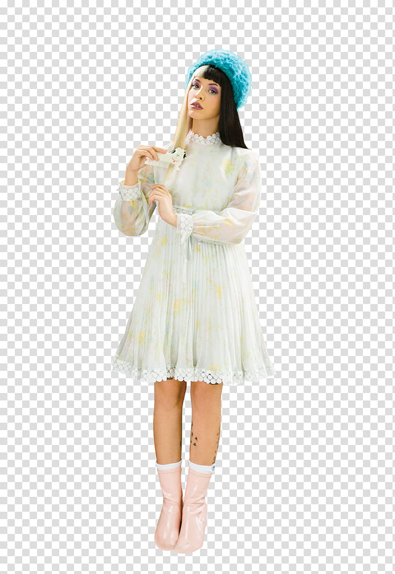Melanie Martinez, woman wearing white long.