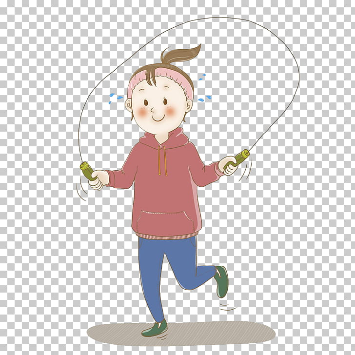 Skipping Girl Sign Jump Ropes Jumping, Girl jumping rope PNG.