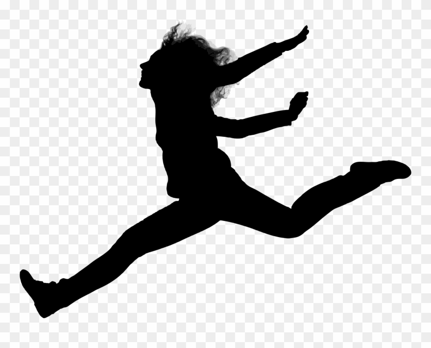 Clipart Woman Jumping Silhouette Little Gymnast Silhouette.