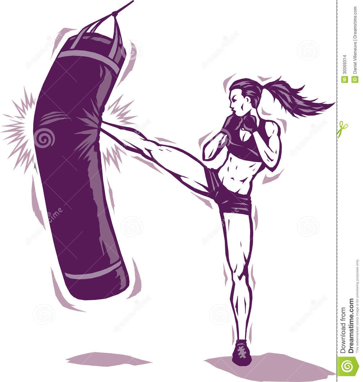 Kickboxing Pictures Clip Art.