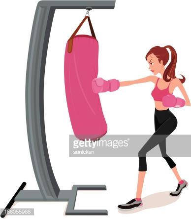 Showing post & media for Cartoon female kickboxing.