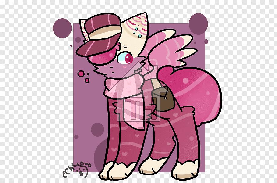 Pink M Organ Character, mailman free png.