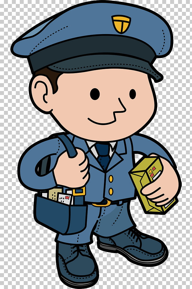 Mail carrier Cartoon, Envelope PNG clipart.