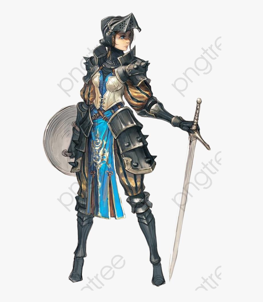Shield Sword Warrior Woman.