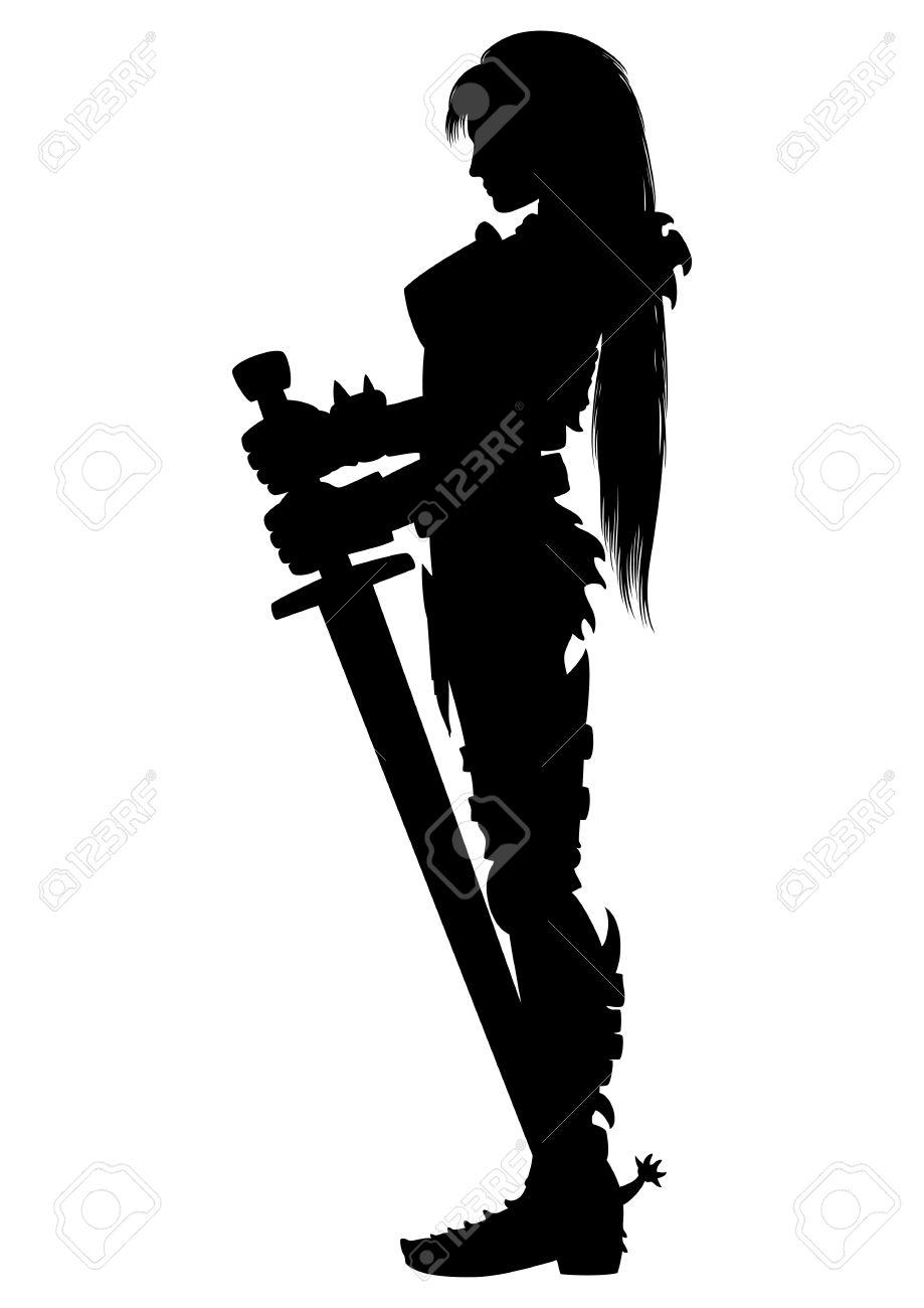Female Knight Silhouette.