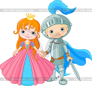 Medieval Lady and Knight.