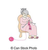 Woman knitting Vector Clip Art Royalty Free. 287 Woman knitting.