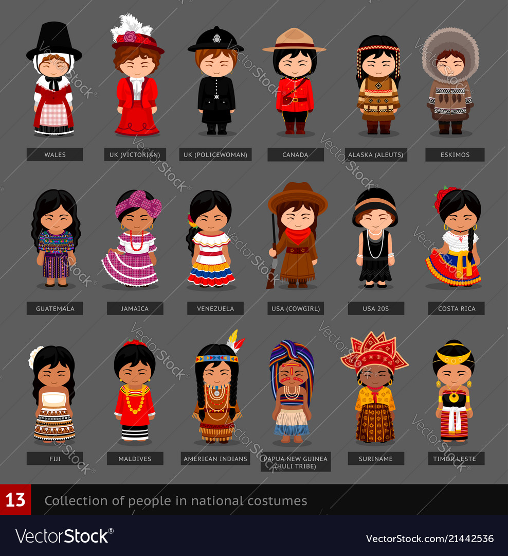 Girls in national costumes.