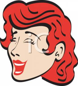 Woman Laughing Clipart Illustration.