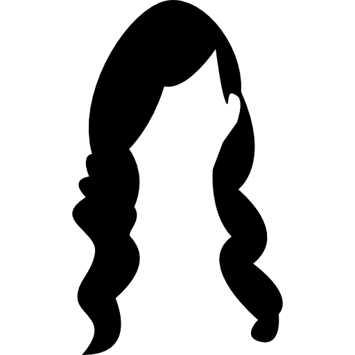 Silhouette Of Woman With Long Hair at GetDrawings.com.