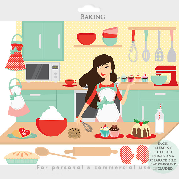9155 Kitchen free clipart.
