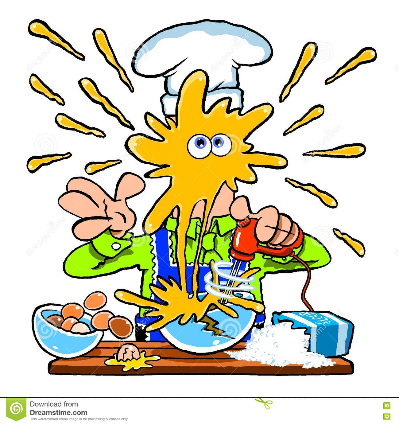 Kitchen Mess Clipart.
