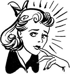Woman Nervous Clipart.