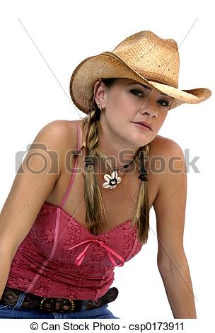 Stock Photography of Cowgirl.