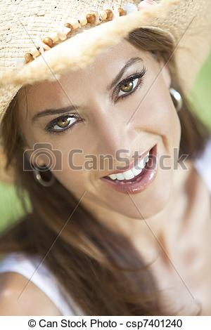 Stock Photography of Outdoor Portrait of Beautiful Young Woman In.