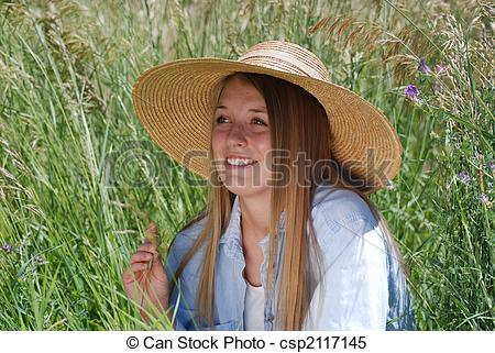Stock Images of Young Country Woman.