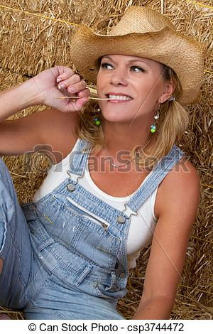 Stock Photo of Country Woman.