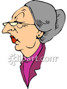Mean Old Woman Clipart.