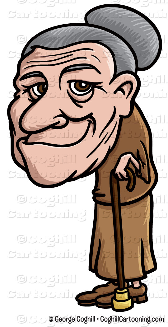 Old Woman Cartoon Clipart.