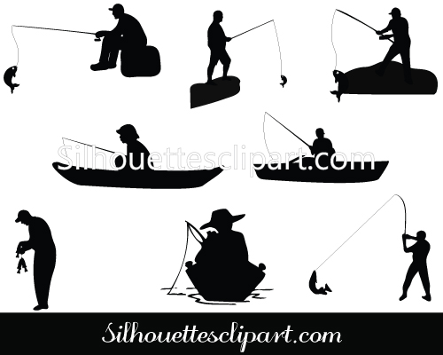 woman on bass boat vector clipart