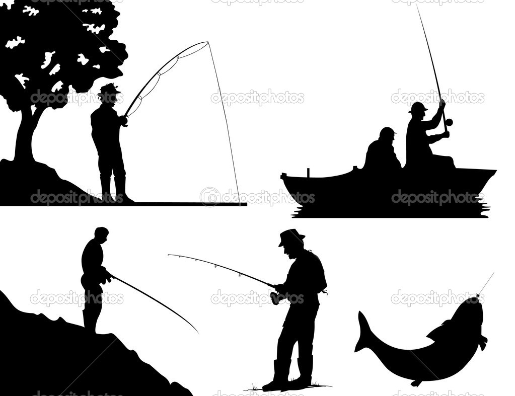 Man Fishing Out Of A Bass Boat Clipart.
