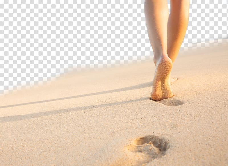 Person walking on sand, Footprint Beach Sand Sole, Woman on.