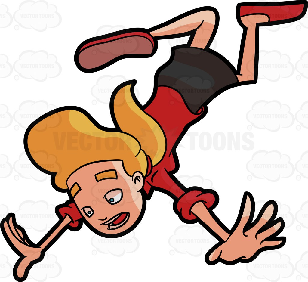 A woman falling down fast on the ground » Clipart Station.