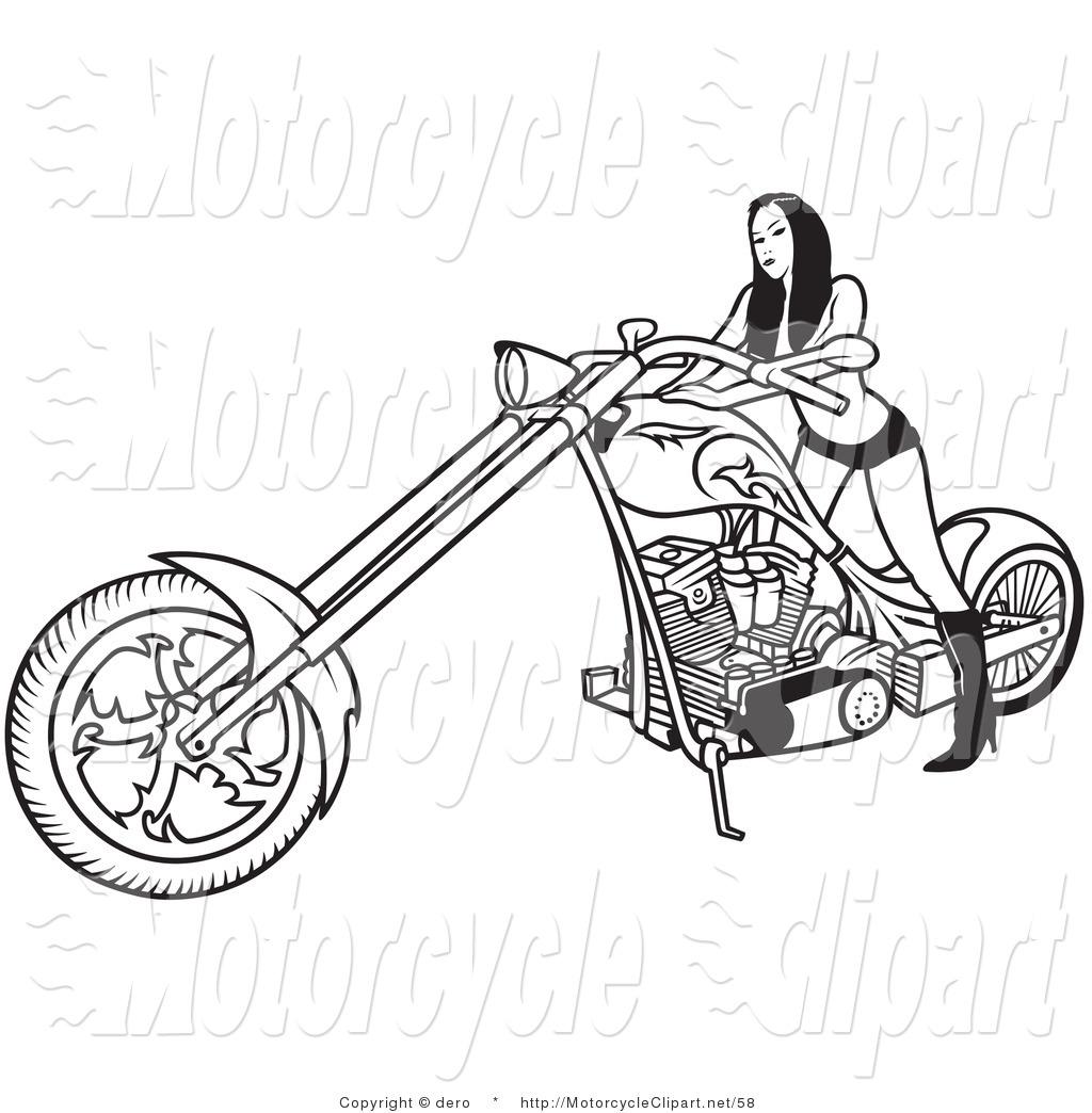 Royalty Free Women Stock Motorcycle Designs.